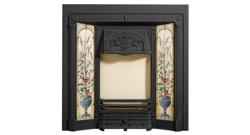Poppy and Wheatsheaf Tiled Front Classic Fireplace