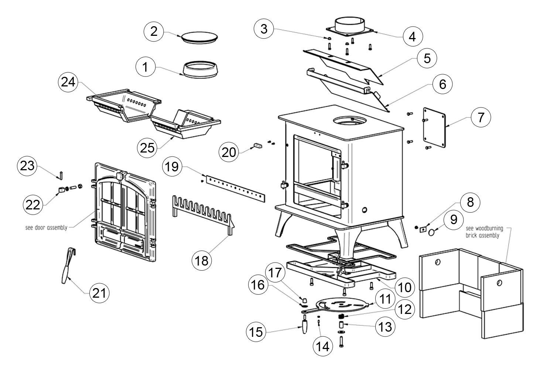 wood stove parts diagram